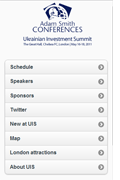 Adam Smith CONFERENCES - Ukrainian Investment Summit 2011 - Web App
